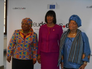 Dlamini Zuma of the AU, Portia S. Miller of Jamaica, Ellen Johnson Sirleaf of Liberia