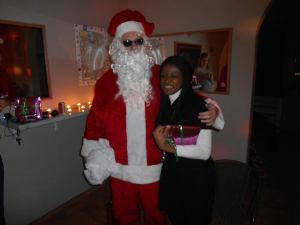 With Santa my 1st time ever