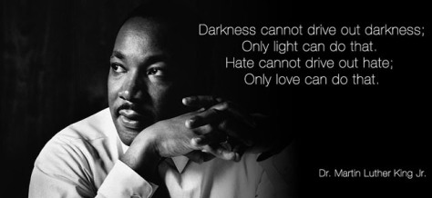 Light and darkness lesson from M.L. King Jr