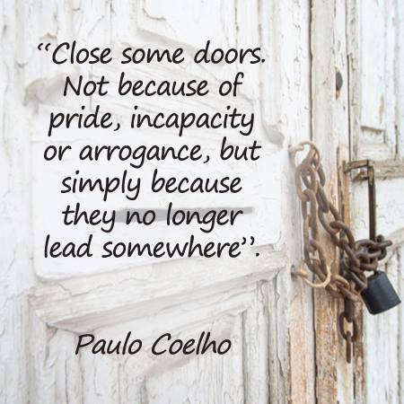 Dare to close some doors...