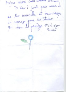 David's letter of 18 August 2013