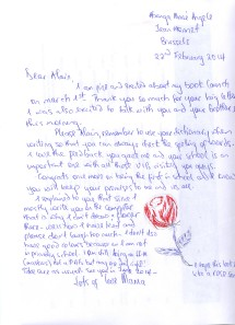 My Letter of 22nd February 2014