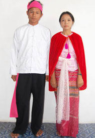 Traditional Myanmar couple