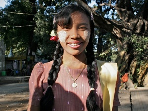 A girl from Myanmar