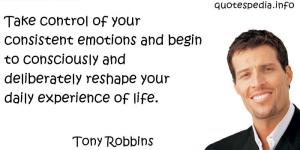 Tony Robbins Emotions control