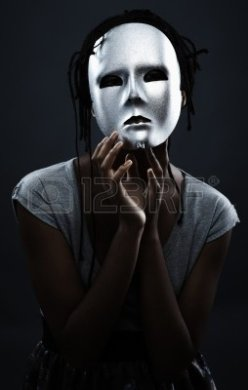 A white mask on a black face is probably closest description of what I had