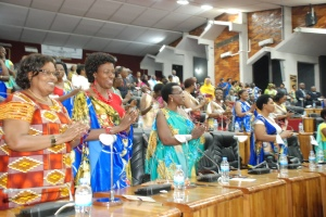 Rwandan Female MPS, female president of the Chamber of Deputies and female VP of the Senate