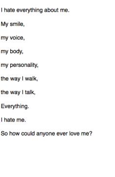 Self hate indeed