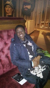 finally got to sit on a velvet sofa - yeah!!!