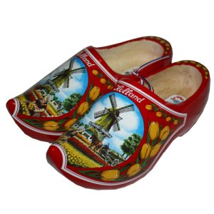 wooden-shoes-red-windmill