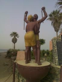 The slavery monument in Goreé