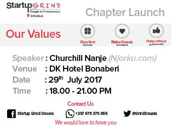 I will be at the at the startup grind in Douala this Saturday, and
