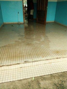 Consultation room flooded by heavy rain