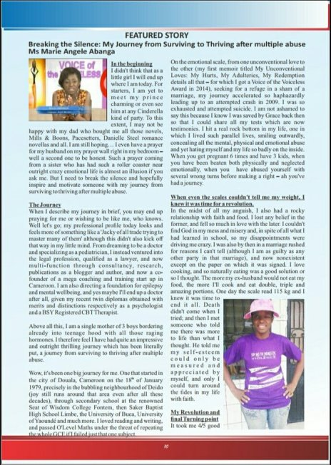 Honoured to have my story featured in its maiden edition