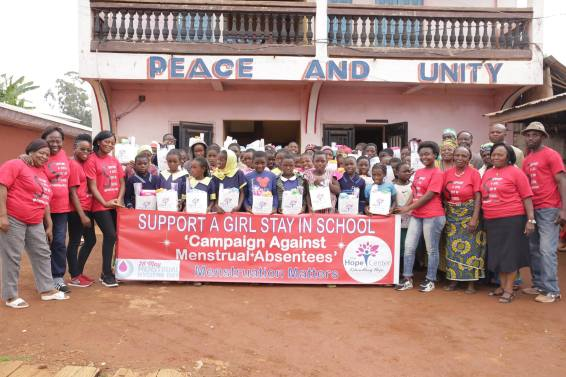 Help girls stay in school during menstrual periods, sensitize the public to eradicate shame and stigma