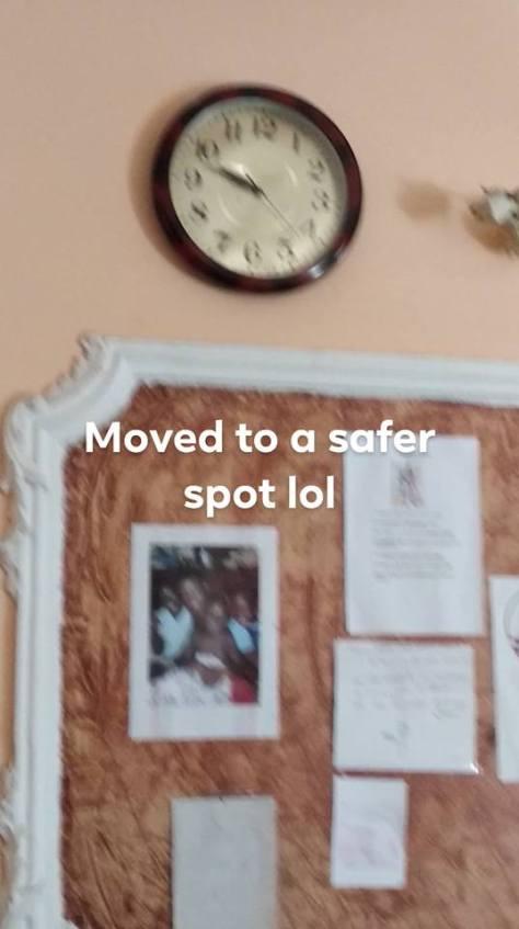 Safer spot for clock